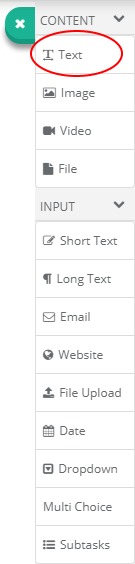 Text Control Button In The Toolbar